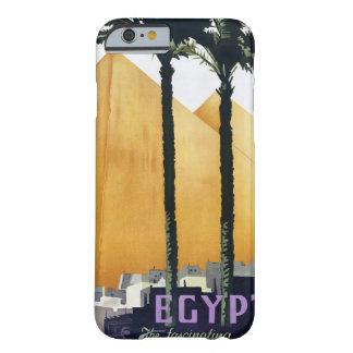 Poster del viaje del vintage de Egipto restaurado Funda Barely There iPhone 6