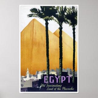 Poster del viaje del vintage de Egipto restaurado Póster