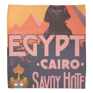 Poster del viaje del vintage de El Cairo Egipto Bandanas