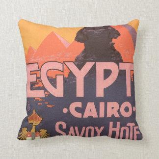 Poster del viaje del vintage de El Cairo Egipto Cojín