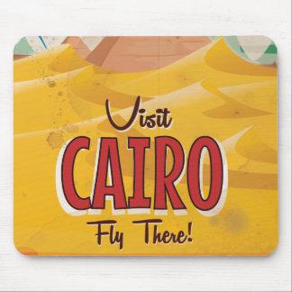 Poster del viaje del vintage de El Cairo Egipto de Tapetes De Ratones