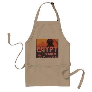 Poster del viaje del vintage de El Cairo Egipto Delantal