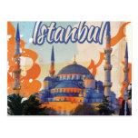 Poster del viaje del vintage de Estambul