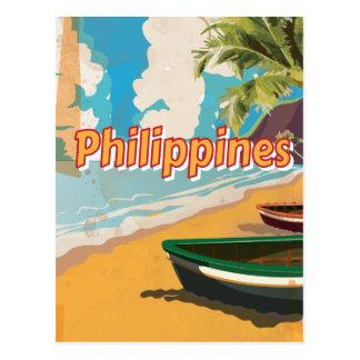 Poster del viaje del vintage de Filipinas Tarjetas Postales