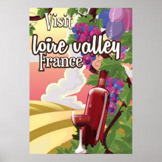 Poster del viaje del vintage de Francia de la