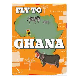 Poster del viaje del vintage de Ghana Tarjetas Postales