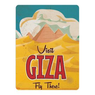 """Poster del viaje del vintage de Giza, Egipto Invitación 6.5"""" X 8.75"""""""