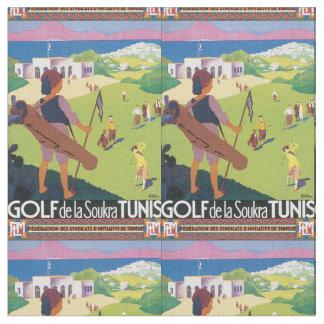 Poster del viaje del vintage de Golf de La Soukra Telas