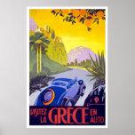 """""""Poster del viaje del vintage de Grece del la de"""