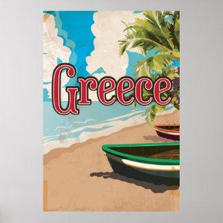 Poster del viaje del vintage de Grecia