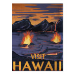 Poster del viaje del vintage de Hawaii Tarjeta Postal