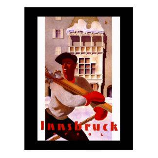"Poster del viaje del vintage de ""Innsbruck"" Tarjetas Postales"