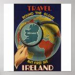 Poster del viaje del vintage de Irlanda