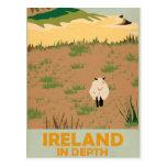 Poster del viaje del vintage de Irlanda de la Postal