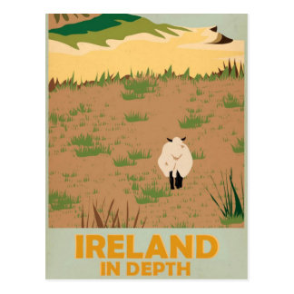 Poster del viaje del vintage de Irlanda de la Tarjeta Postal