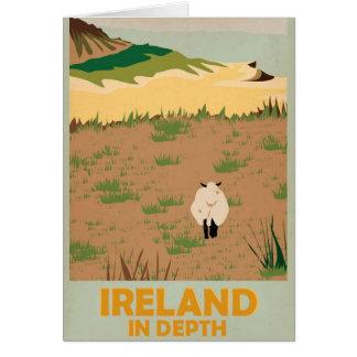 Poster del viaje del vintage de Irlanda de la visi Felicitación