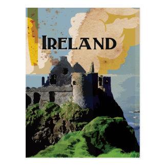Poster del viaje del vintage de Irlanda Tarjetas Postales