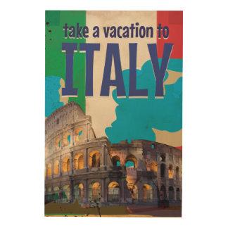 Poster del viaje del vintage de Italia Cuadros De Madera