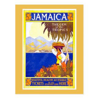 Poster del viaje del vintage de Jamaica Tarjeta Postal