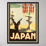 Poster del viaje del vintage de Japón