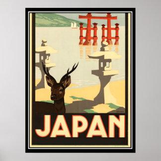 Poster del viaje del vintage de Japón Póster