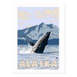 Poster del viaje del vintage de la ballena de tarjeta postal