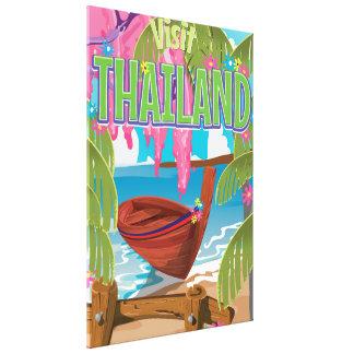 Poster del viaje del vintage de la diversión de impresión en lienzo estirada