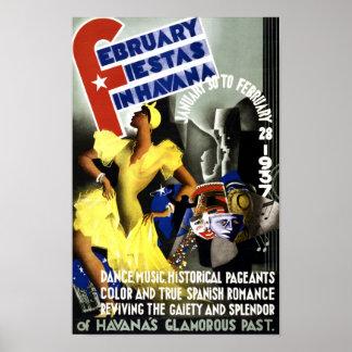 Poster del viaje del vintage de La Habana