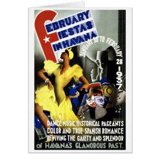 Poster del viaje del vintage de La Habana Tarjeta De Felicitación