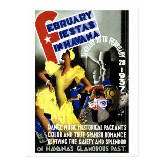 Poster del viaje del vintage de La Habana Tarjeta Postal