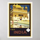 """""""Poster del viaje del vintage de la India de la vi"""
