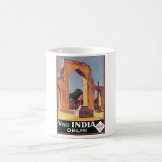 Poster del viaje del vintage de la India Delhi de Taza