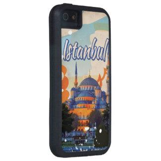 Poster del viaje del vintage de la mezquita de iPhone 5 carcasas