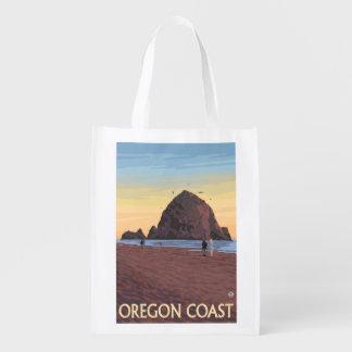 Poster del viaje del vintage de la roca del bolsa de la compra