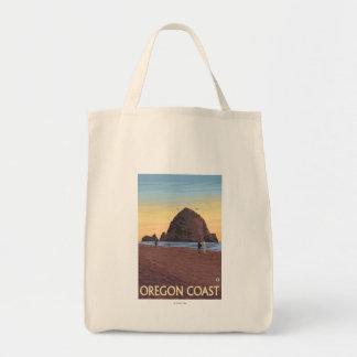 Poster del viaje del vintage de la roca del bolsa tela para la compra