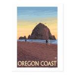 Poster del viaje del vintage de la roca del postal
