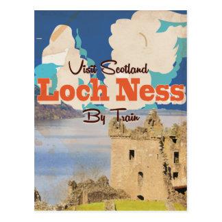 Poster del viaje del vintage de Loch Ness Tarjeta Postal