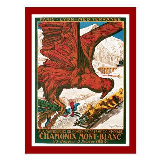 Poster del viaje del vintage de los Juegos Postal