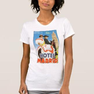 Poster del viaje del vintage de Madrid del hotel Camisetas