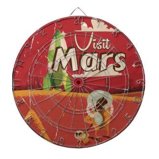 Poster del viaje del vintage de Marte