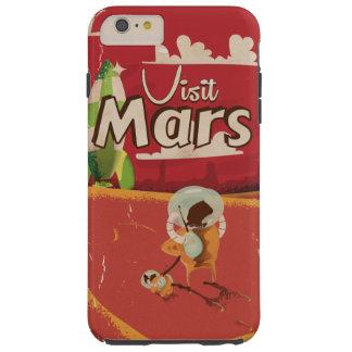 Poster del viaje del vintage de Marte Funda De iPhone 6 Plus Tough