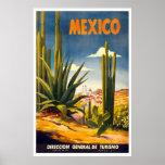"""Poster del viaje del vintage de """"México"""""""
