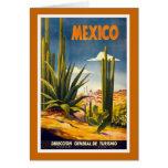 """Poster del viaje del vintage de """"México"""" Tarjetas"""