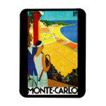 Poster del viaje del vintage de Monte Carlo Imán