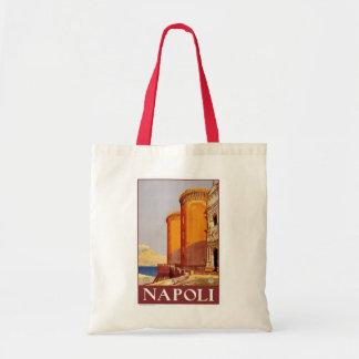 """Poster del viaje del vintage de """"Nápoles"""" Bolsa Lienzo"""