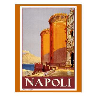 """Poster del viaje del vintage de """"Nápoles"""" Postales"""