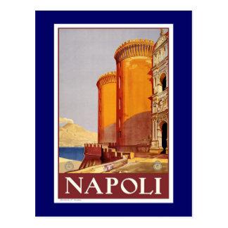 """Poster del viaje del vintage de """"Nápoles"""" Tarjetas Postales"""
