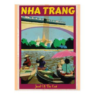 Poster del viaje del vintage de Nha Trang Tarjetas Postales
