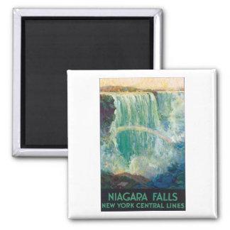 Poster del viaje del vintage de Niagara Falls Imán