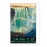 Poster del viaje del vintage de Niagara Falls Tarjeta Postal